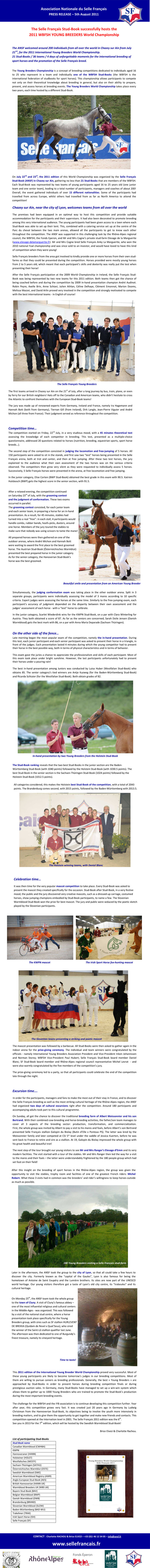 International Young Breeders